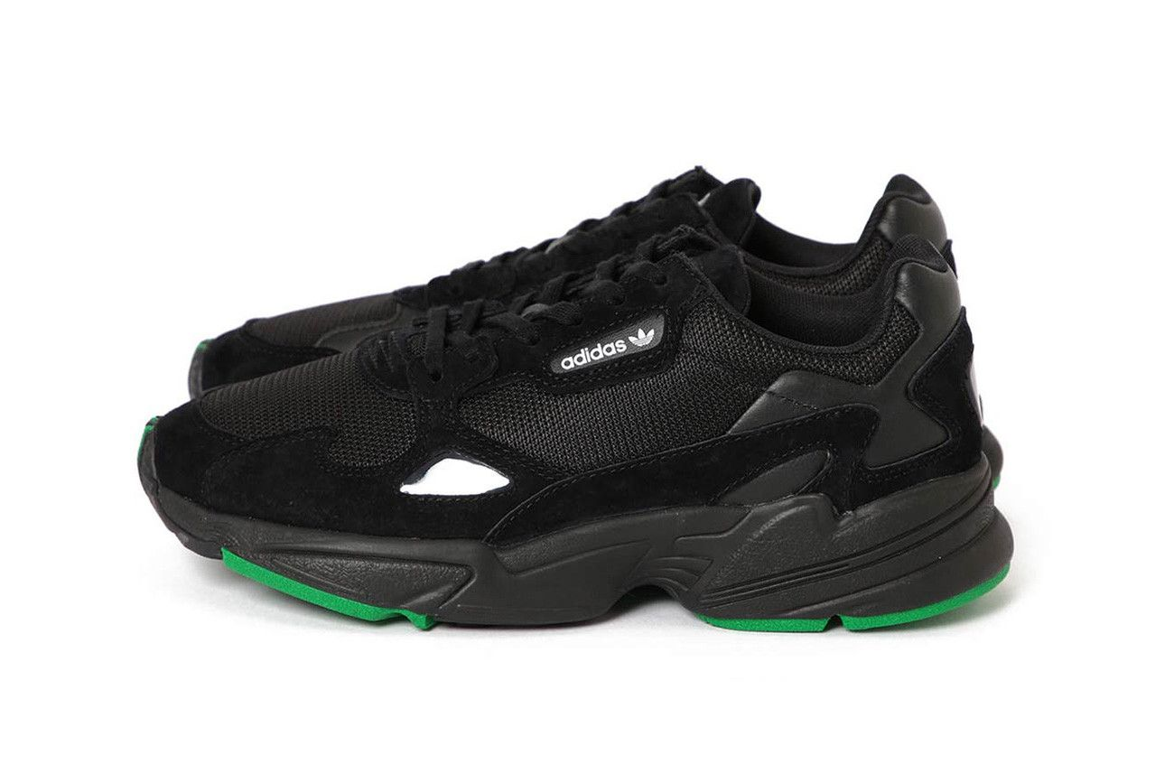 beams adidas falcon black green 2018 september footwear adidas originals  sneakers 1c64cfe1f