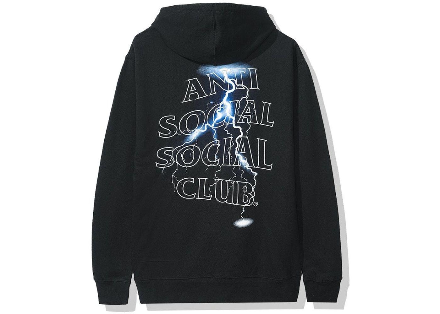 Anti Social Social Club Lightening Logo Save Your Tears Tee Black S//M//L//XL//2XL