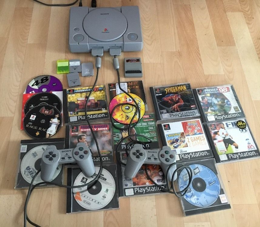 All Playstation 1 Games : Sony playstation ps console controller all leads