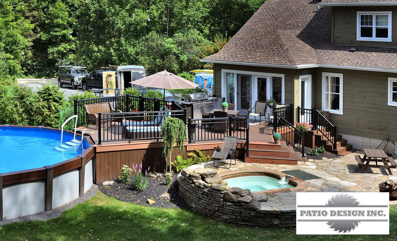 Terrasse en trex swimming pool decks pinterest terrasse for Plan de patio exterieur en bois