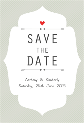 Free Printable Save The Date Announcement Clean And Simple