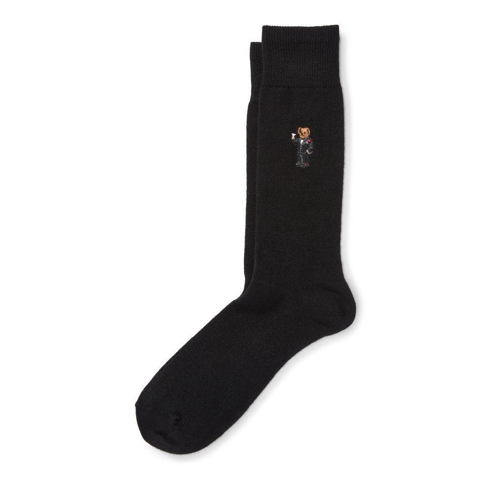 RALPH LAUREN Polo Ralph Lauren Cashmere Martini Bear Socks. #ralphlauren  #cloth #