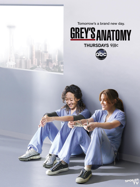"""Poster da 8ª temp. de """"Grey's Anatomy"""" (estreou na ABC a 22/9/11)"""