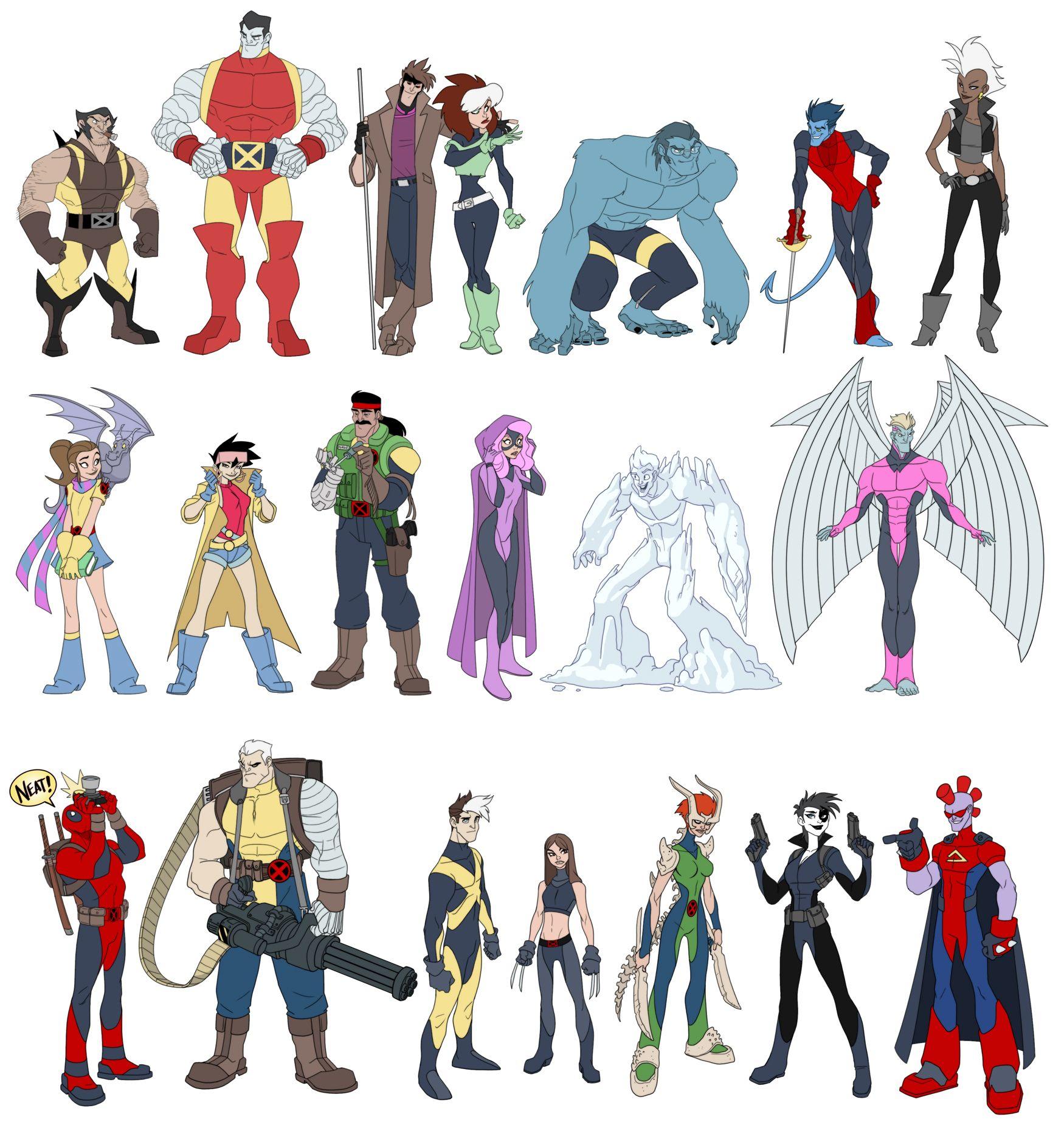 Fuen X Men Lineup Compiled Matthew Humphreys Cartoon Styles Cartoon Man Character
