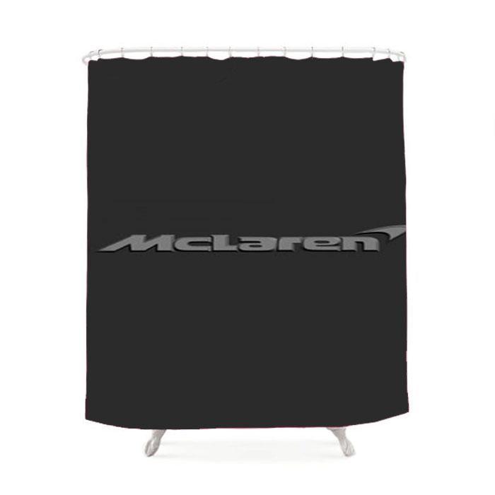 Mclaren Logo Grey Shower Curtain Gray shower curtains