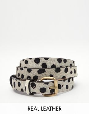 Jack Wills Leather Belt in Animal Print $46.43