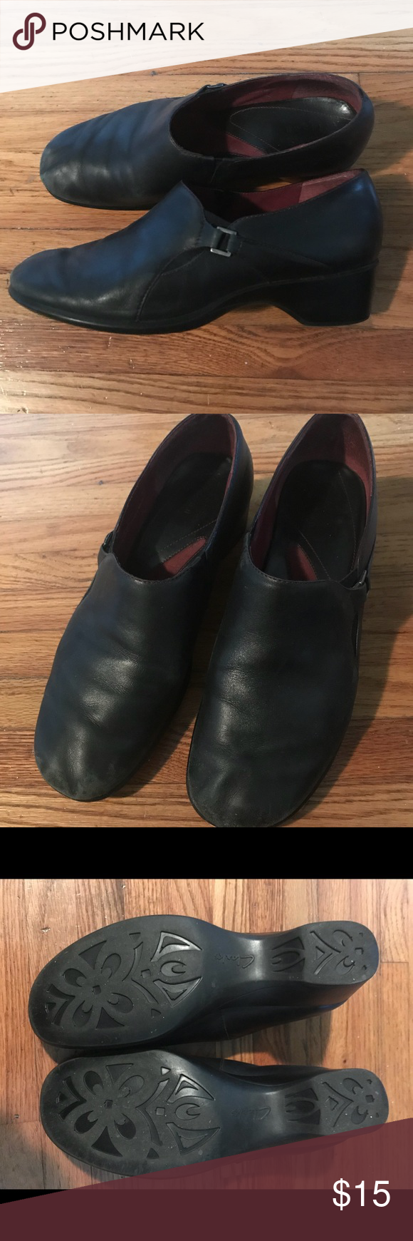 79bc788b6e3 Women s Clark s shoes Black womens Clarks 9M shoes. Some wear noted in toe  area but otherwise good condition Clarks Shoes Heels