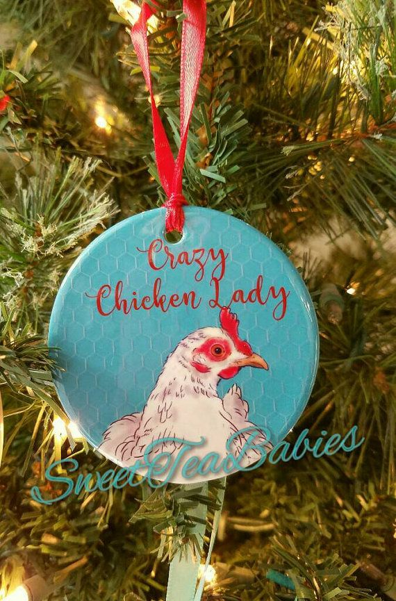 Chicken ornament, Crazy chicken lady ornament, chicken, gift for chicken  lovers, chicken gift, chickens, Chicken Christmas ornament | chickens |  Pinterest ... - Chicken Ornament, Crazy Chicken Lady Ornament, Chicken, Gift For