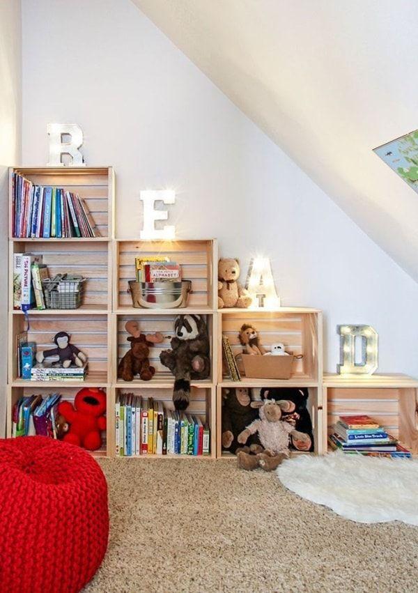 Hacer muebles con cajas de madera muebles con cajones de - Estanterias para juguetes ...