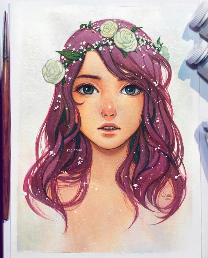 Qinniart On Instagram Art Japan Watercolor Drawings