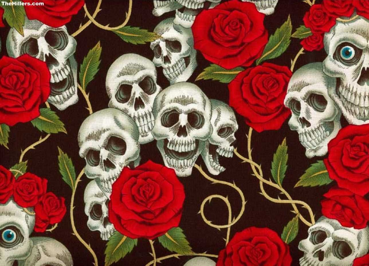 Vintage Skull Wallpaper