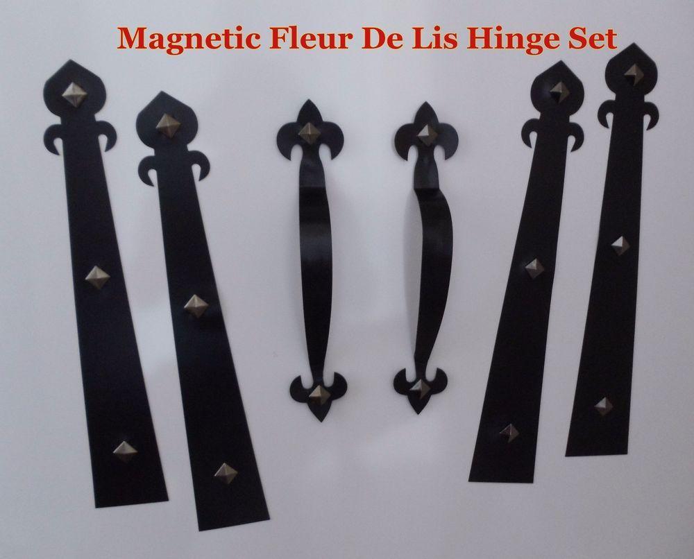 garage door hinges. Magnetic Garage Door Decorative Hardware KIT Hinges Fleur De Lis1 Carriage House H