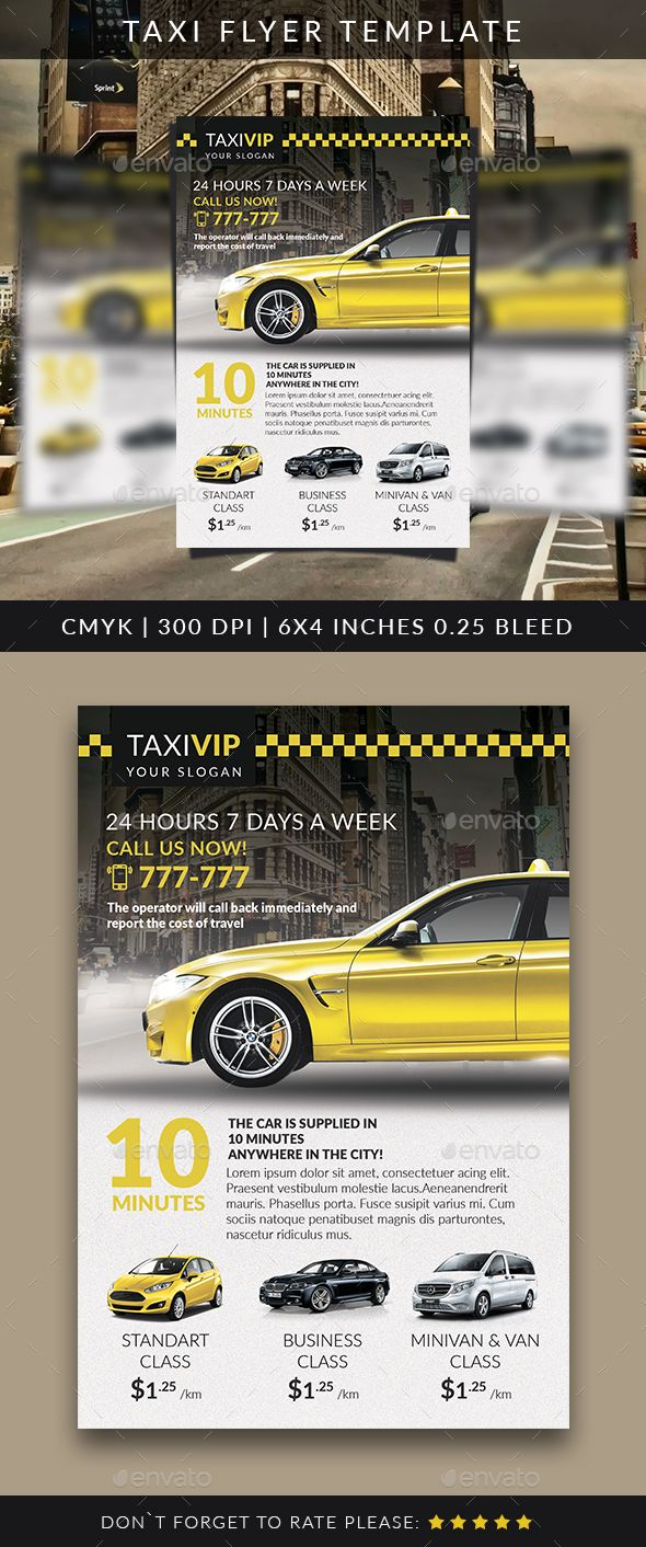 Taxi Flyer Template — Photoshop Psd #limousine #vip Rent A Car • Available  Here → Https://graphicriver.net/item/taxi-Flyer-Template/17099888?ref=Pxcr