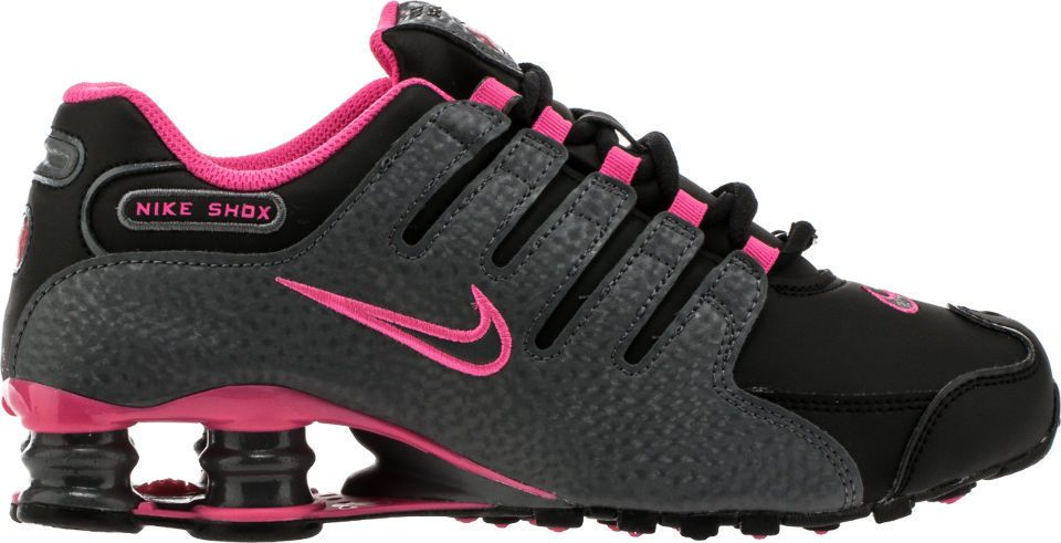 NEW NIKE SHOX NZ WOMENS Black Grey Pink Blast 636088 026