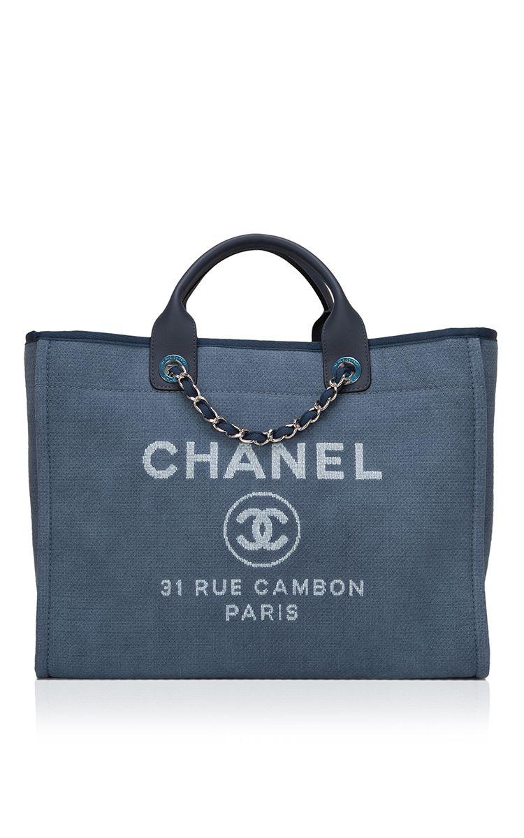 87f251c7852f Chanel Large Deauville Canvas Tote Bag - Preorder now on Moda Operandi