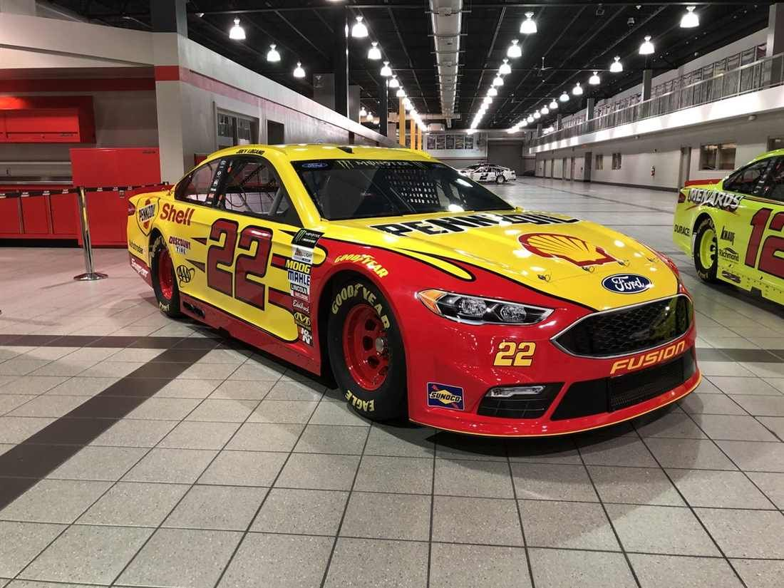 New Looks For  Tuesday January   Joey Logano No  Shell Pennzoil Ford For Team Penske Photo Credit Team_penske Photo