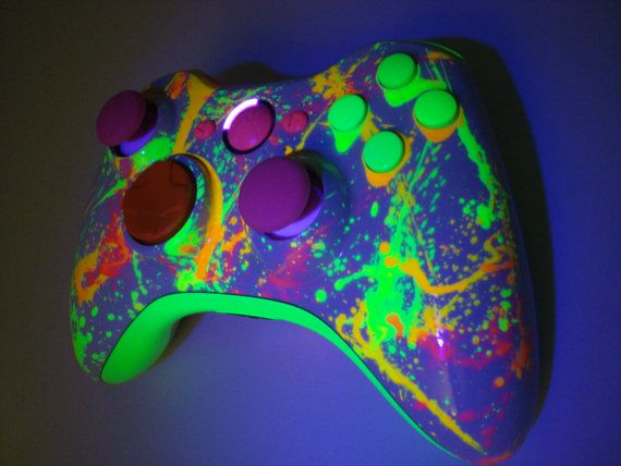 Neon Paint Ball Custom Xbox 360 Controller by ProModz by ...