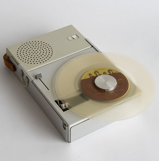 Dieter Rams; #TP1 Portable Radio/Record Player Component System for Braun, 1959.