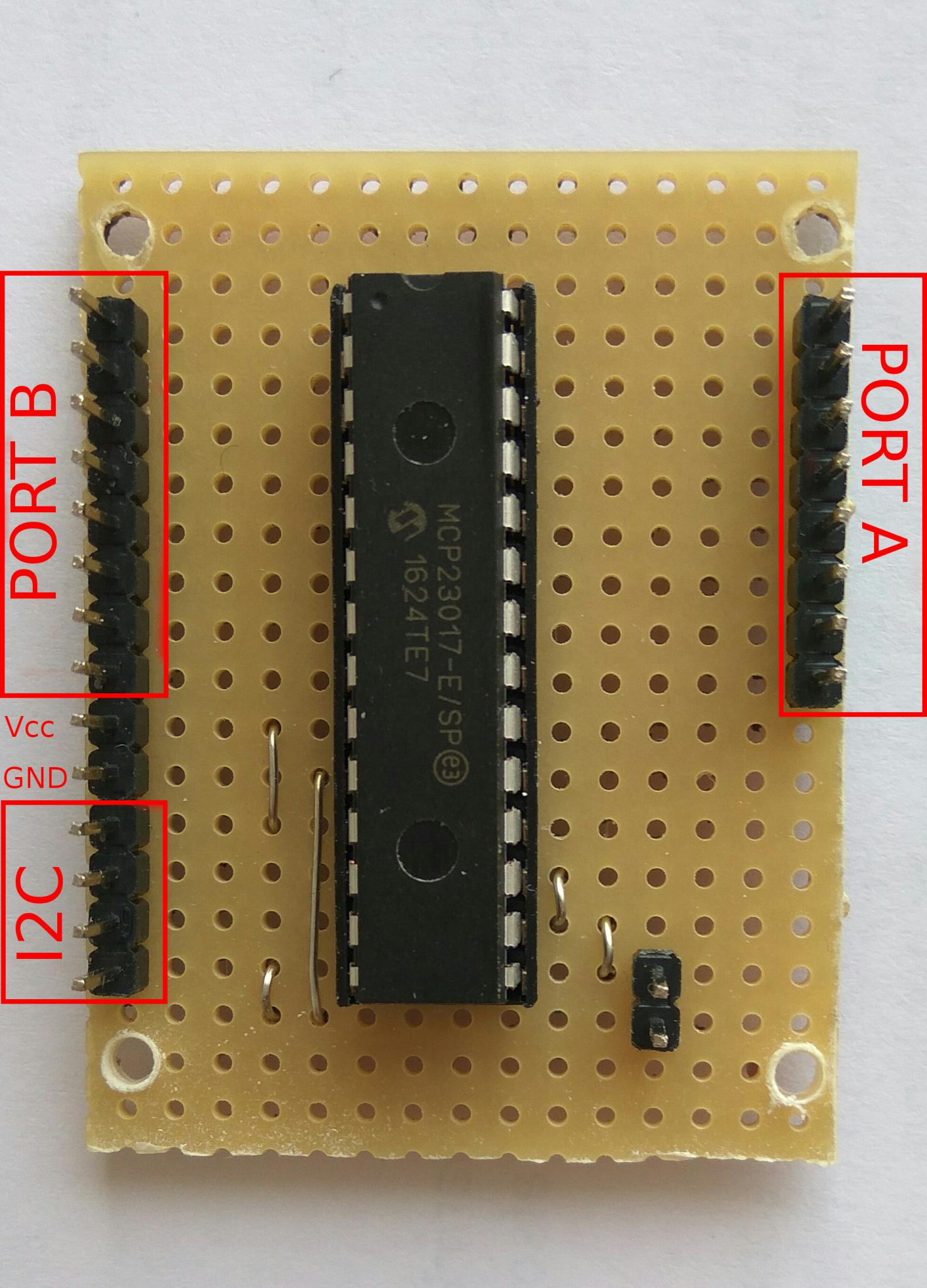 Adding an MCP23017 16 port IO expander to Arduino or Esp8266