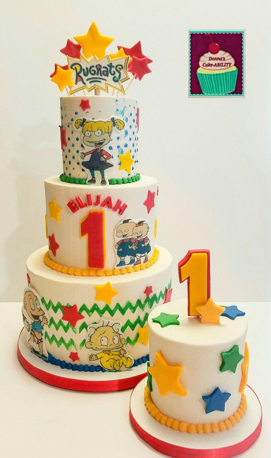 Rugrats Cake And Smash Cake Rugrats Theme Party Pinterest