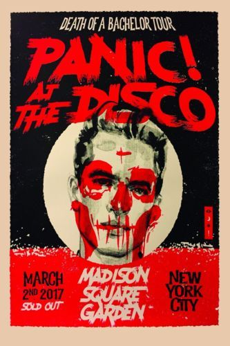 Panic at the disco death of a bachelor 2017 nyc tour poster rare 24 panic at the disco death of a bachelor m4hsunfo