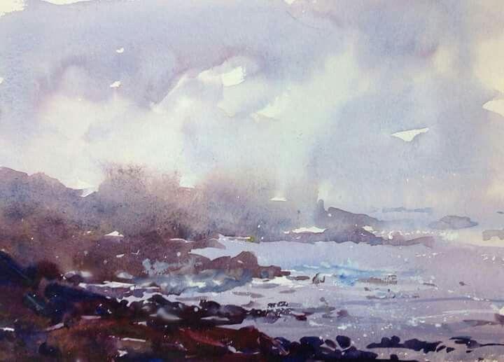 Eric Michaels Seascape Watercolor Painting