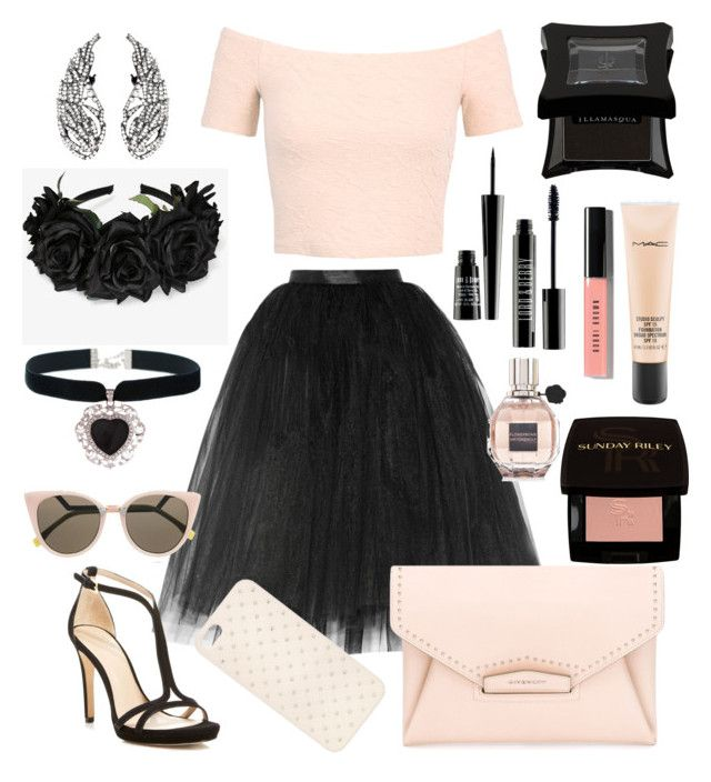 """Untitled #101"" by natulinka ❤ liked on Polyvore featuring Ballet Beautiful, Miss Selfridge, Givenchy, Tory Burch, Fendi, Illamasqua, Lord & Berry, Bobbi Brown Cosmetics, Sunday Riley and Viktor & Rolf"