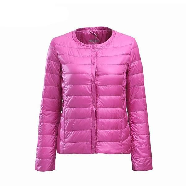 281227c82a57b BOSIDENG womens clothing Spring down coat regular jacket ultra light solid  color slim clearance sale BIG