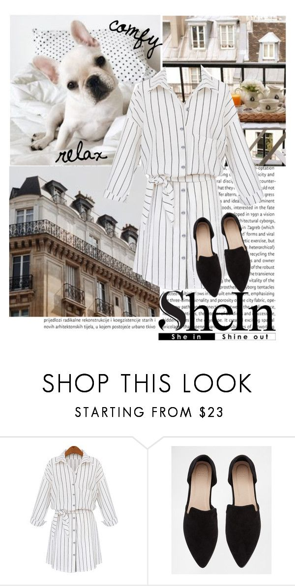 """""""White Lapel vertical striped self-tie blouse"""" by gabygirafe ❤ liked on Polyvore featuring Oris, WithChic and ASOS"""