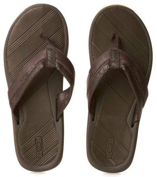 c893b99c61a Oakley Premier Leather Flip Flops - Brown