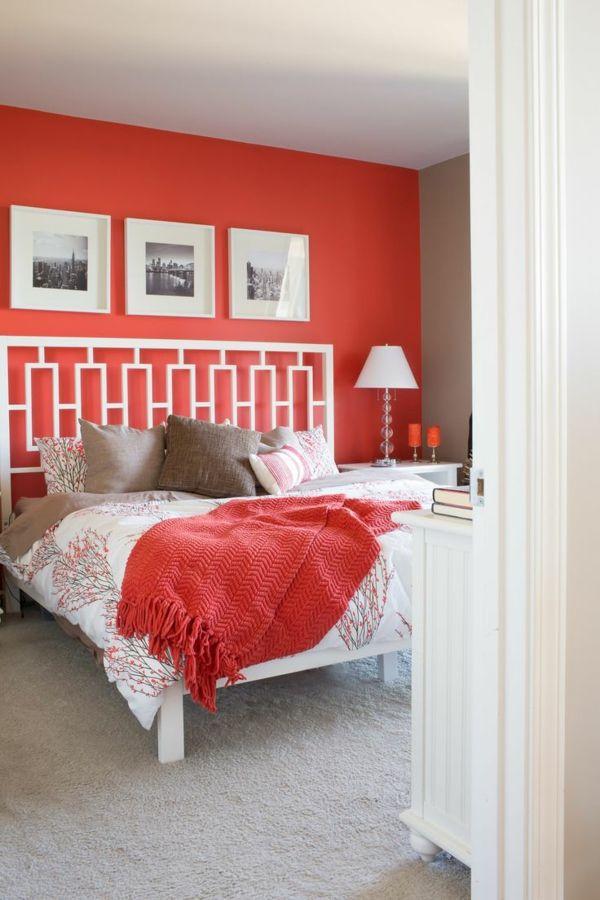 Schlafzimmer Farben Wandfarben Schlafzimmer Rot Akzentwand