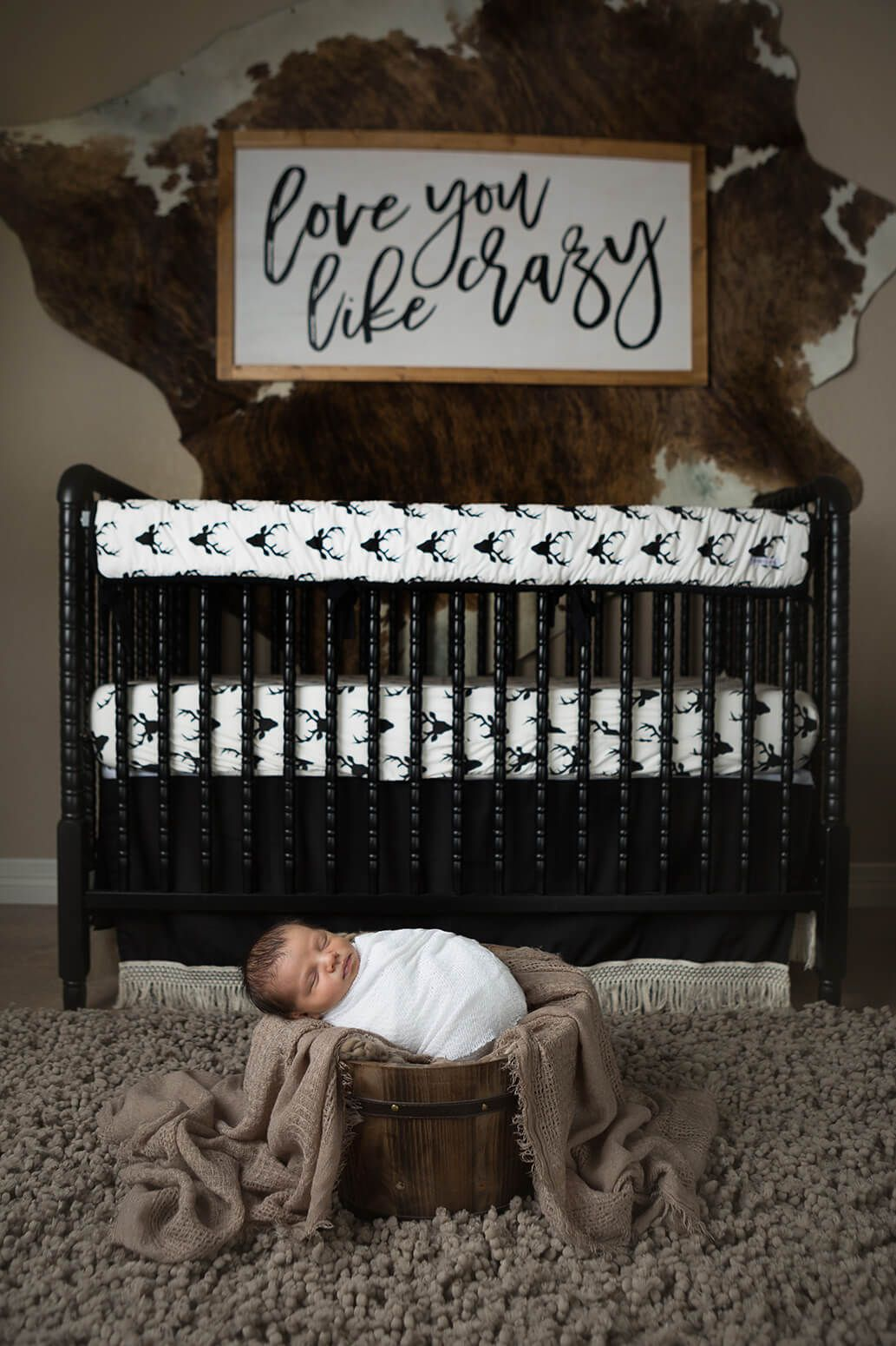 Newborn Photos In Nursery Couture Caden Lane Brown Taupe Cream At Home By Jenn Brookover Photography San Antonio Texas