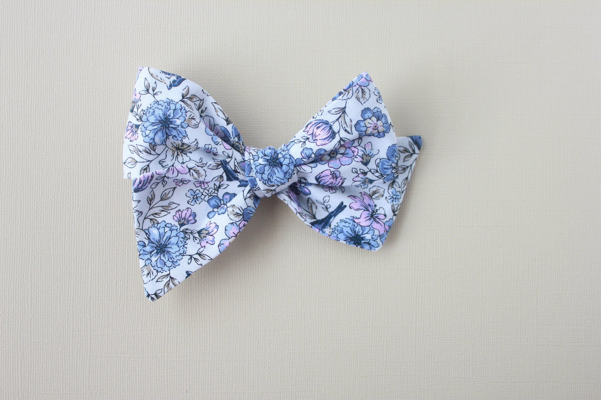 Purple and Blue Paisley Bow Ties and Hair Bows