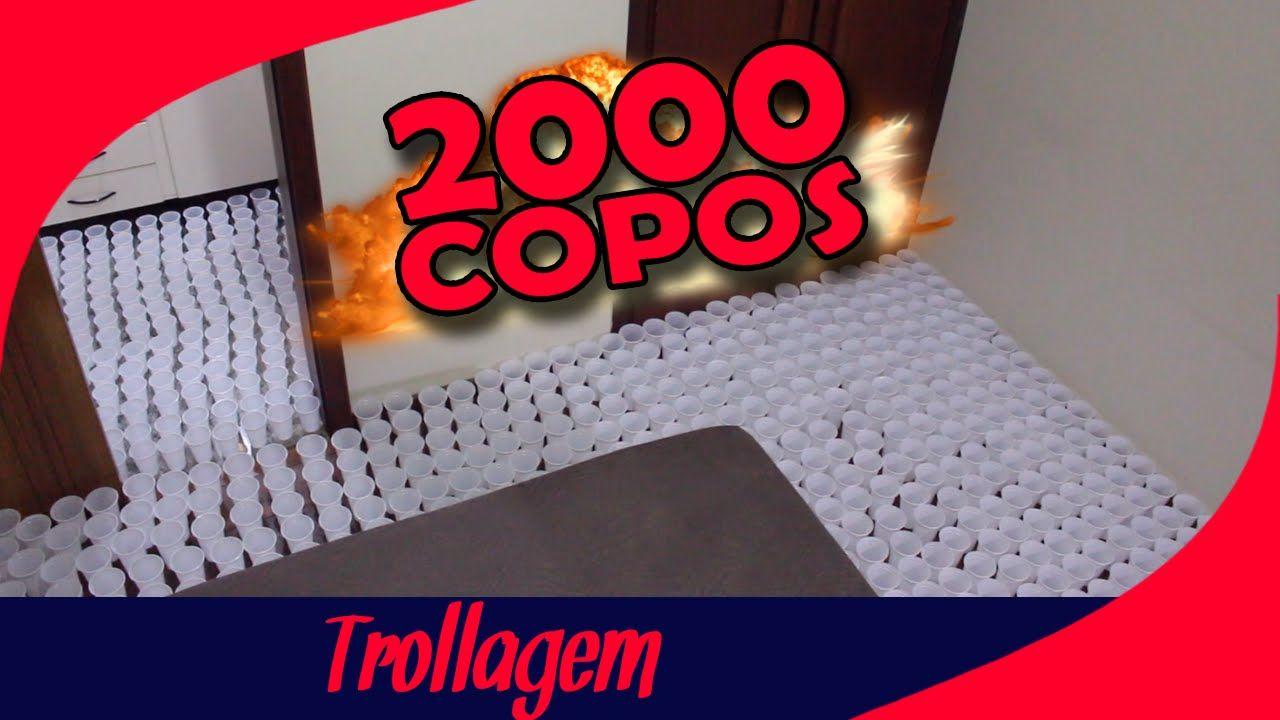 TROLLEI MINHA MÃE COM 2000 COPOS E OLHA O QUE DEU!