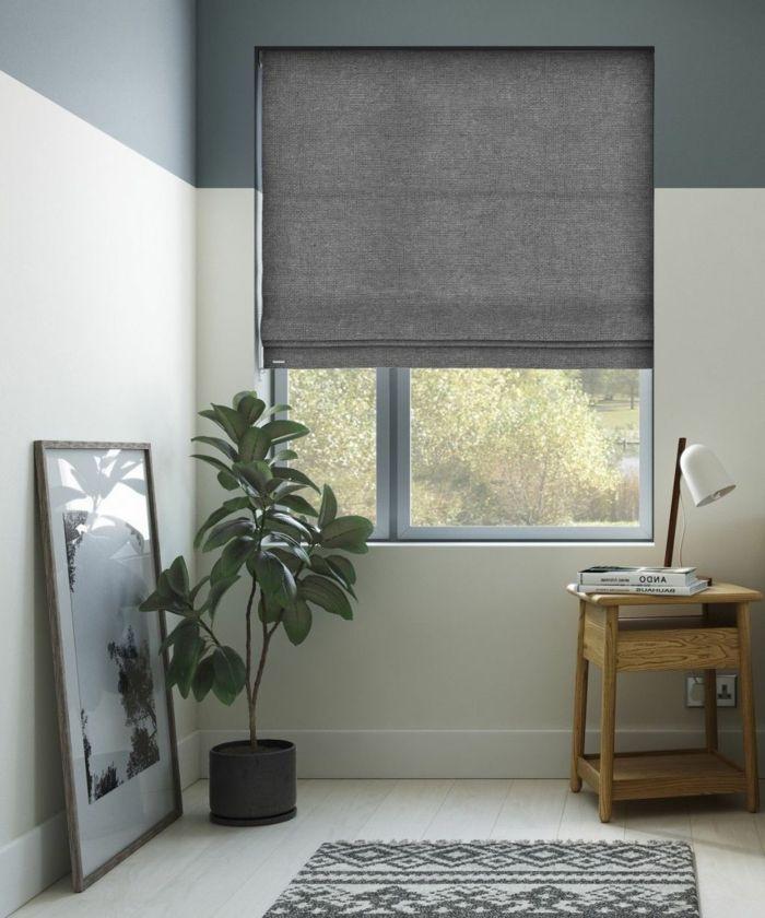 Cortinas modernas estores grises de estilo minimalista for Cortinas grises modernas