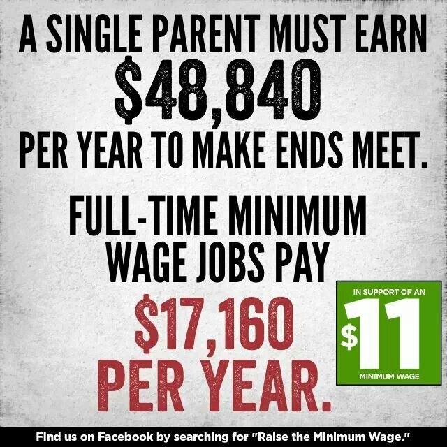 Raise The Minimum Wage Single Parenting Parenting Minimum Wage