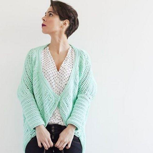 Crochet Kimono Jacket Pattern. Patron Rebeca Crochet www ...