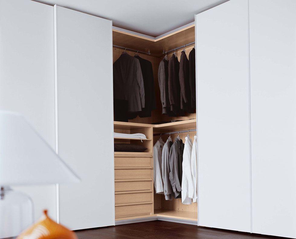 Novamobili tempo corner sliding door wardrobe fitted Corner wardrobe ideas