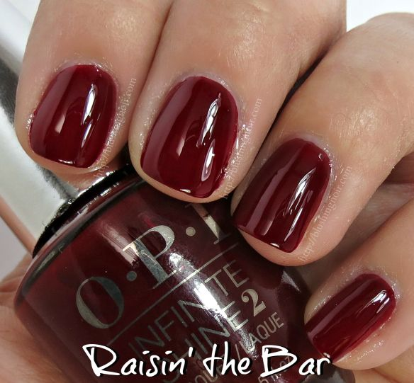 Opi Raisin The Bar Infinite Shine Nail Polish Swatches