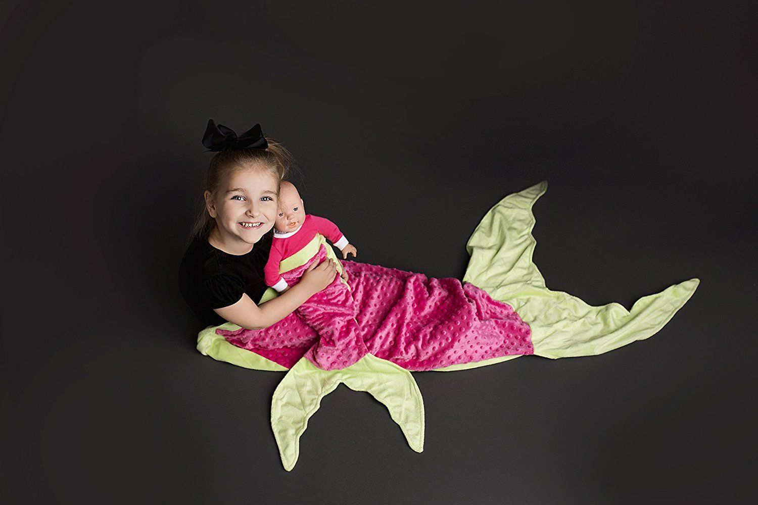 Amazon.com: PoshPeanut Mermaid Blanket Softest Minky Comfy Cozy Blankie for Kids Ages 3-13 with FREE Toy Doll Blanket Included (Aqua / Pink): Home & Kitchen