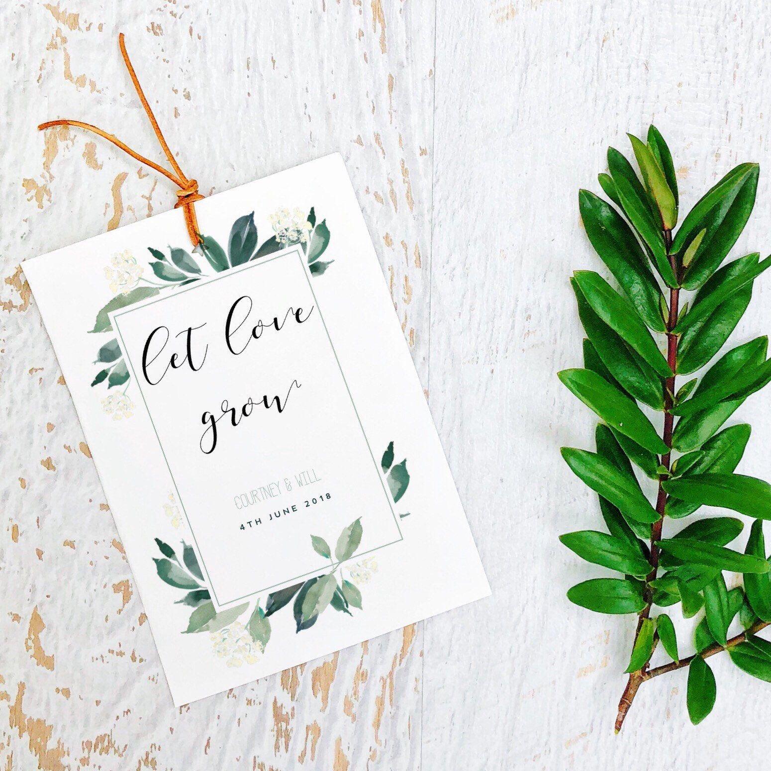 Let Love Grow-Seed Packets-Custom seed packet-Wedding seed packet ...