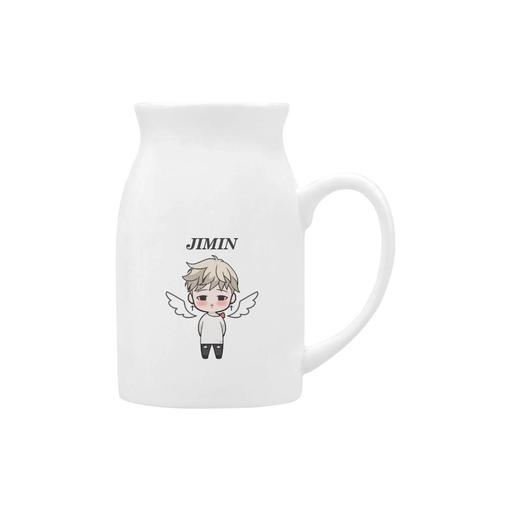 BTS Jimin Angel cute chibi designed by L'Hibiscus Milk Cup