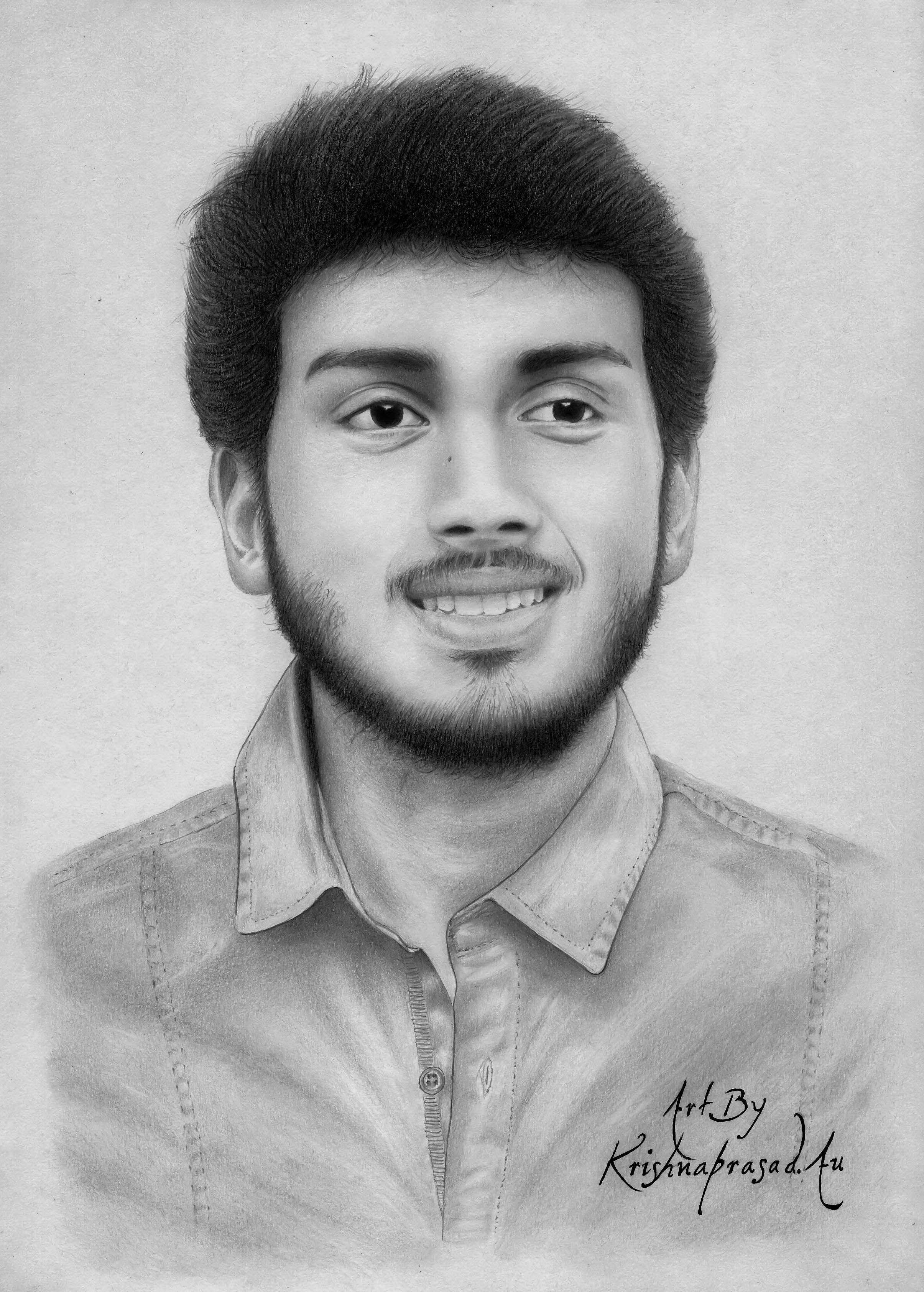 My art work realistic portrait of kalidas jayaram pencils camlin 10b8b2bhhb4h5b size a4 duration 17 hours