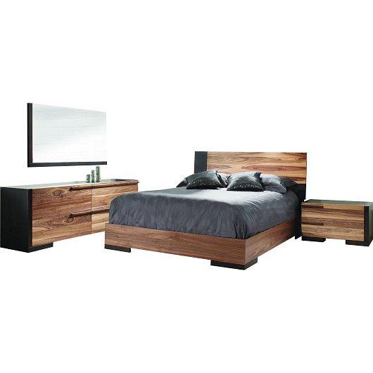Mobilier de chambre à coucher queen 60 po au design contemporain tanguay