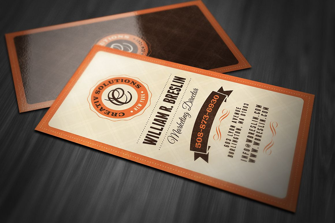 Retro Business Card | Business cards, Unique business cards and Card ...