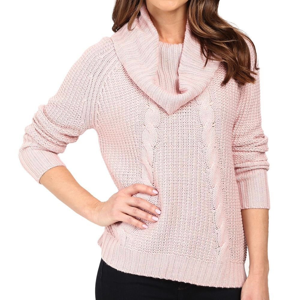 Women's L IVANKA TRUMP Oversized Cowl-Neck Soft Cable-Knit Sweater ...
