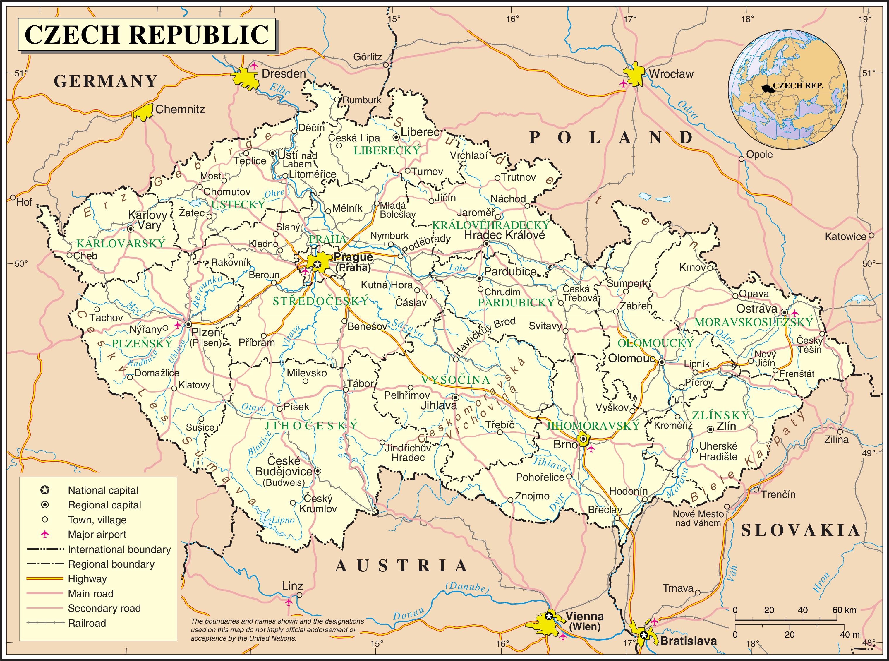 Map Of Czech Republic Czech Republic Europe Pinterest Czech