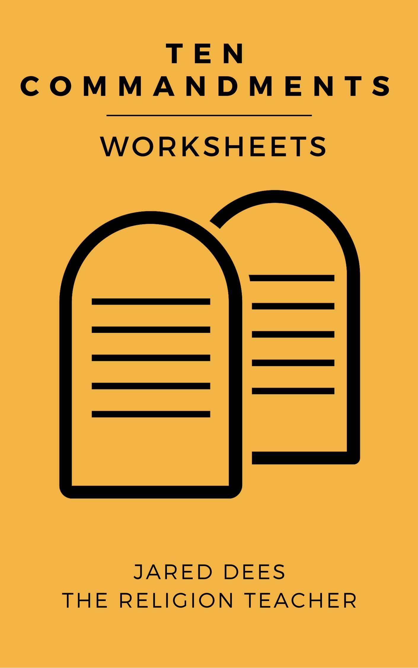 The Religion Teacher S Ten Commandments Worksheets
