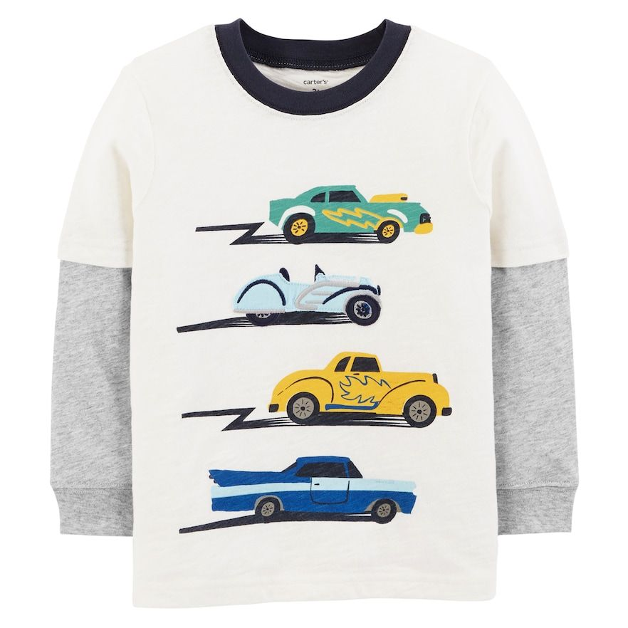 8381ab0ab Baby Boy Carter s Cars Mock Layer Graphic Tee in 2019
