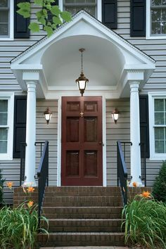 2 Story Rounded Front Awning Google Search Front Door
